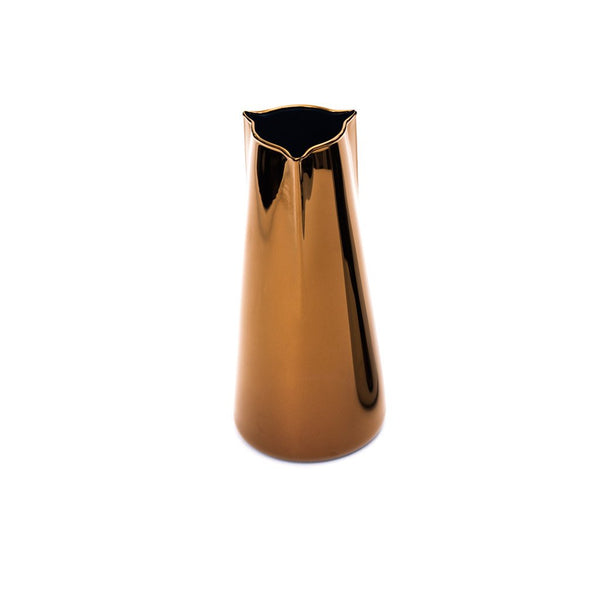 Becchi Carafe Copper  A glass carafe with a metal finish: Holds 1000 ml.  Serving Pot Paper & Tea