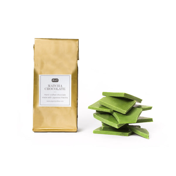 Highest quality broken Belgian chocolate with premium matcha