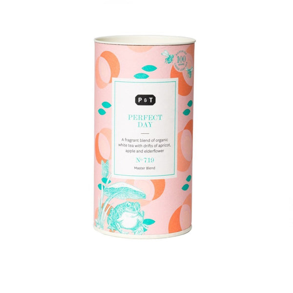 """Perfect Day N°719 honey-floral, summer apple, apricot  A fragrant blend of organic white tea with drifts of apricot, apple and elderflower White Tea, Master Blend Paper & Tea"""