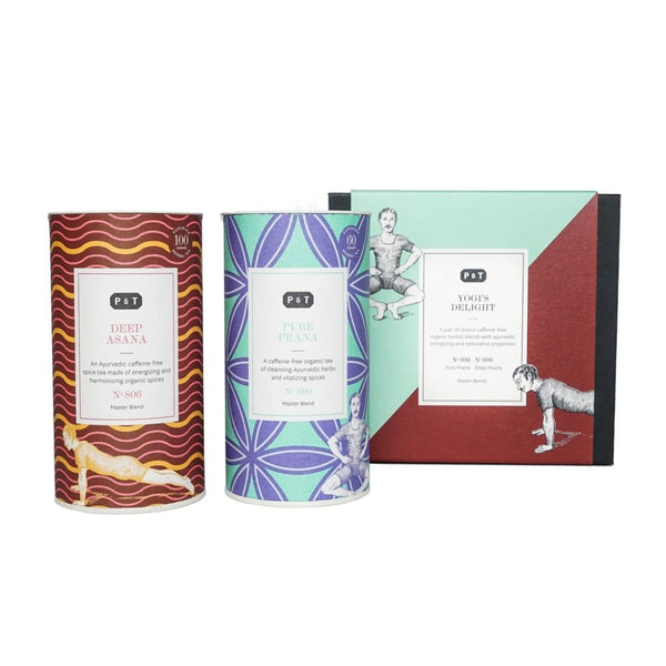 Master Blend Duo Set 'Yogi's Delight'  A set of two best-selling ayurvedic spice blends from P & T's Master Blends collection.  Paper & Tea