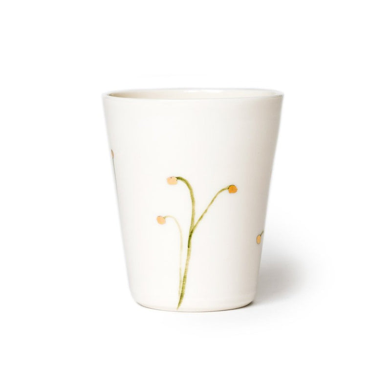 Blooming Tips cup small  A hand-crafted porcelain cup by Nastia Eliseeva. Holds 100 ml Cup Paper & Tea