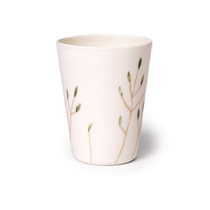 Blooming tips cup medium  A hand-crafted porcelain cup by Nastia Eliseeva. Holds 250 ml Cup Paper & Tea
