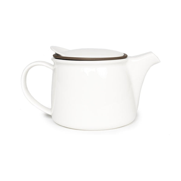 Brim Teapot  A porcelain teapot with a removable strainer: Holds 450 ml.  Teapot Paper & Tea