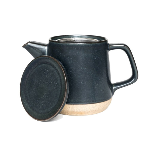Ceramic Lab teapot black  A porcelain teapot with a removable strainer: Holds 500 ml.  Teapot Paper & Tea