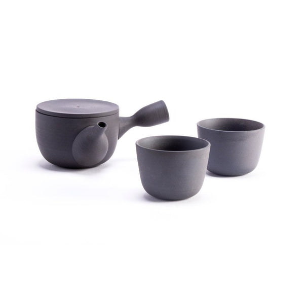 Chanoki Cup  An unglazed stoneware cup: Holds 100 ml.  Cup Paper & Tea