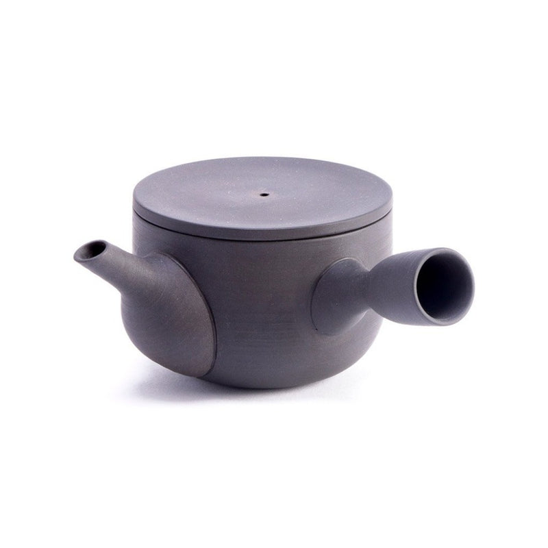 Chanoki Kyusu  An unglazed stoneware, side-handled teapot with detachable strainer: Holds 200 ml.  Teapot Paper & Tea