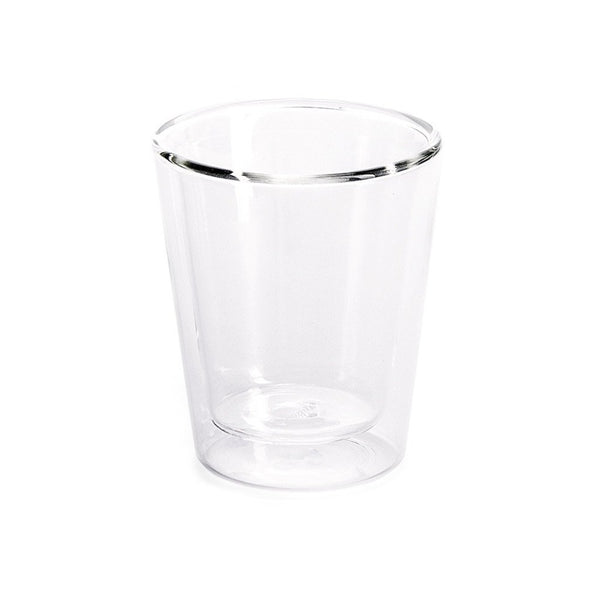 Cylinder Cup, medium  A double-walled glass cup: Holds 200 ml. Cup Paper & Tea