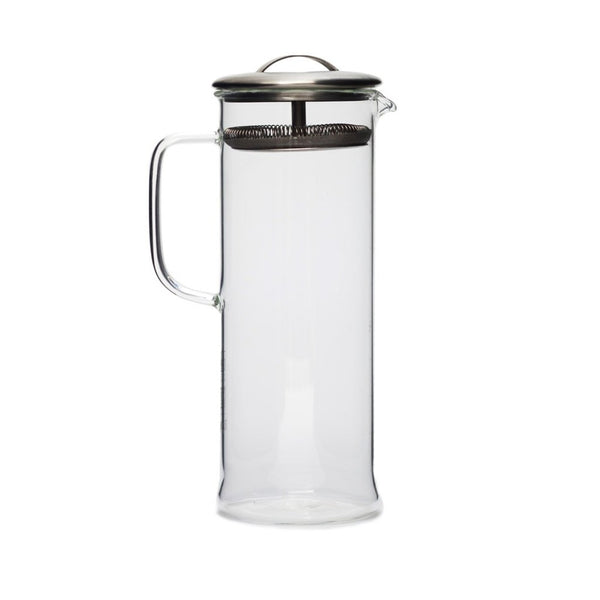 Cylinder Pot large  A glass teapot for hot and cold brew with integrated strainer: Holds 1000 ml. Teapot Paper & Tea