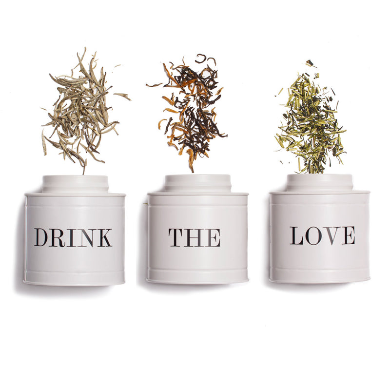 Drink the Love Caddy A tea storage caddy: Holds 400 ml Paper & Tea