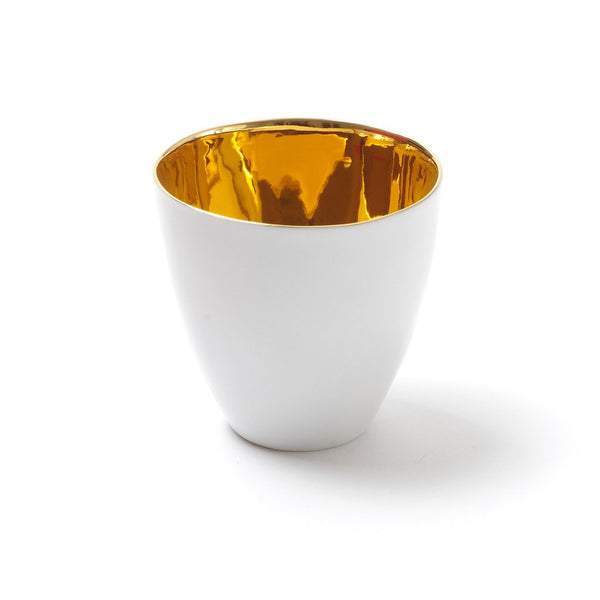 Golden Plenty Cup  A porcelain cup with a real gold finish: Holds 180 ml.  Cup Paper & Tea