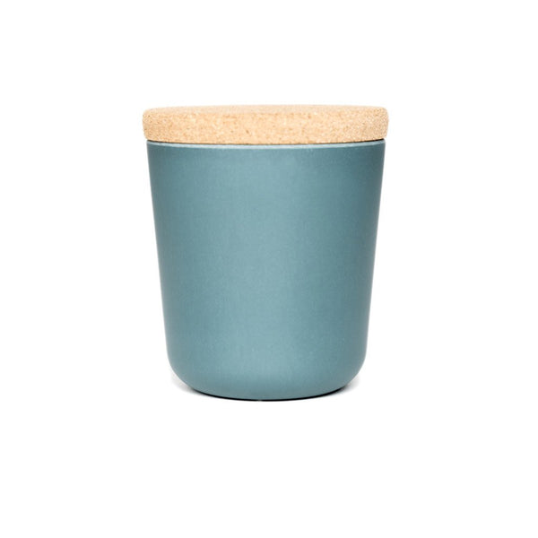 Gusto Tea Storage Teal  A tea storage jar made from bamboo with a cork lid: Holds 500 ml. Tea Caddy Paper & Tea