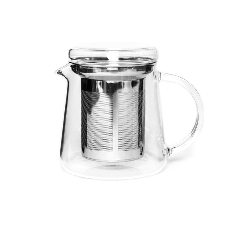 Haus Tea Pot (Metal strainer)  A heat-resistant glass teapot with removable metal strainer: Holds 400 ml.  Teapot Paper & Tea