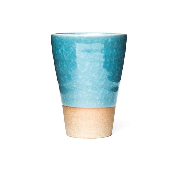 Humpty Dumpty Drinking Cup blue  A glazed cup with crackle glaze: Holds 250 ml.  Cup Paper & Tea
