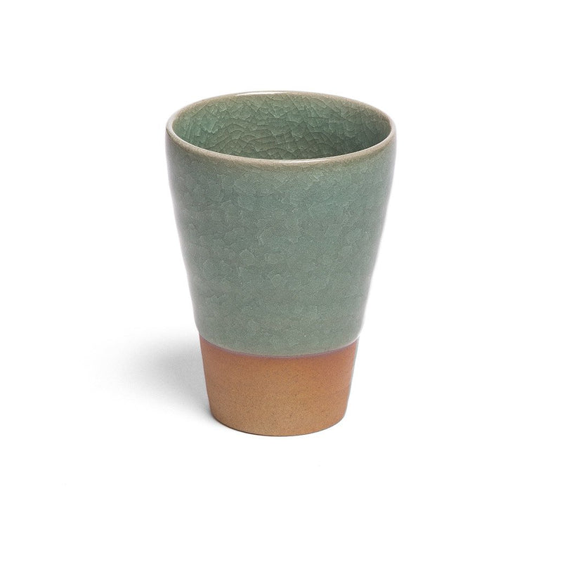 Humpty Dumpty Drinking Cup green  A glazed cup with crackle glaze: Holds 250 ml.  Cup Paper & Tea
