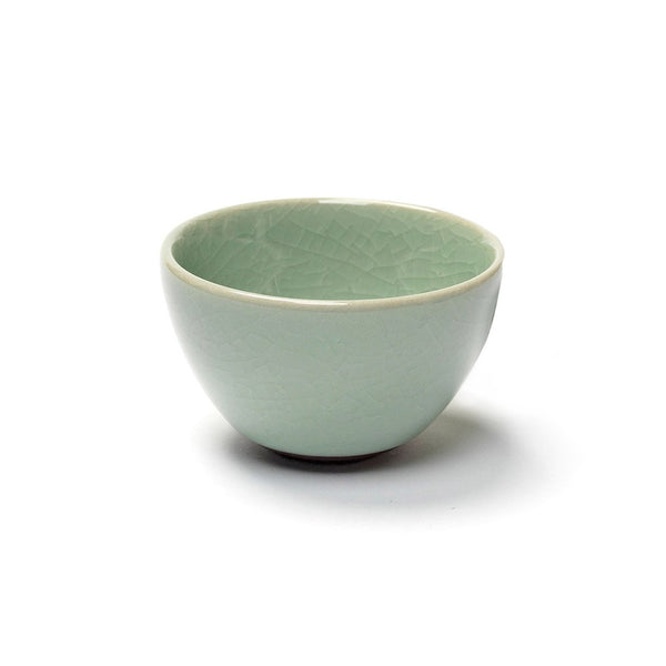 Humpty Dumpty Sipping Cup green  A glazed sipping cup with crackle glaze: Holds 50 ml.  Cup Paper & Tea