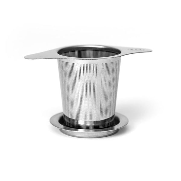 P & T infuser  A practical stainless steel strainer with lid. Tea Accessoires Paper & Tea