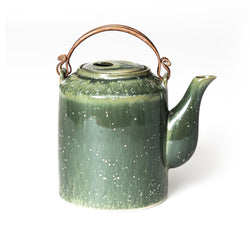 Jade Cylinder Teapot  A porcelain teapot with a brass handle: Holds 700 ml. Teapot Paper & Tea