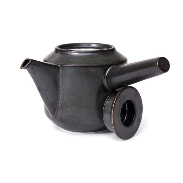 Leaves to Tea Kyusu dark green  A modern side-handled teapot in porcelain: Holds 300 ml. Teapot Paper & Tea