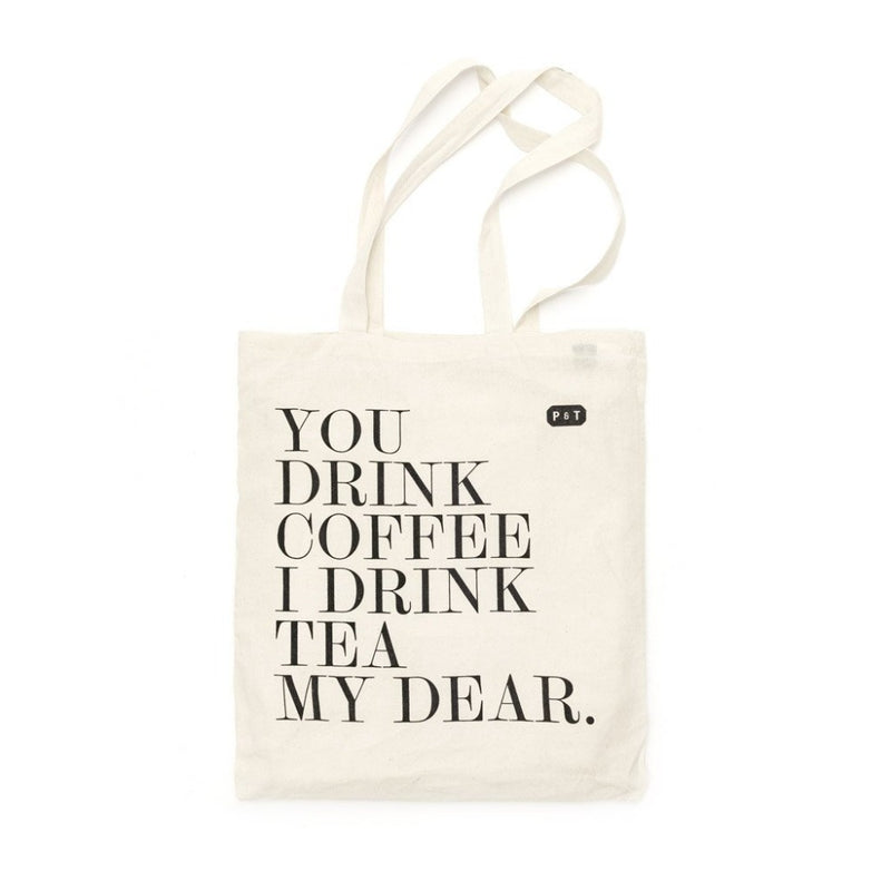 My Dear Tote Bag  A P & T branded cotton tote bag with the My Dear motto print. P & T Merchandise Paper & Tea
