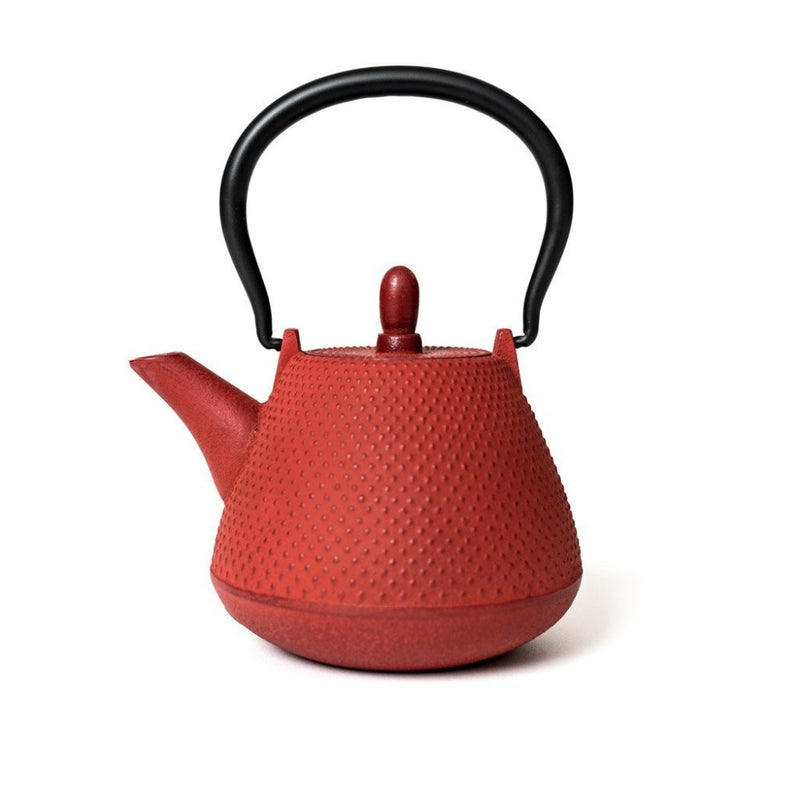 Nail Head Teapot Red  A hand-made tradtional Japanese iron teapot: Holds 400 ml. Teapot Paper & Tea