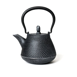 Nail Head Teapot Grey  A hand-made tradtional Japanese iron teapot: Holds 400 ml. Teapot Paper & Tea