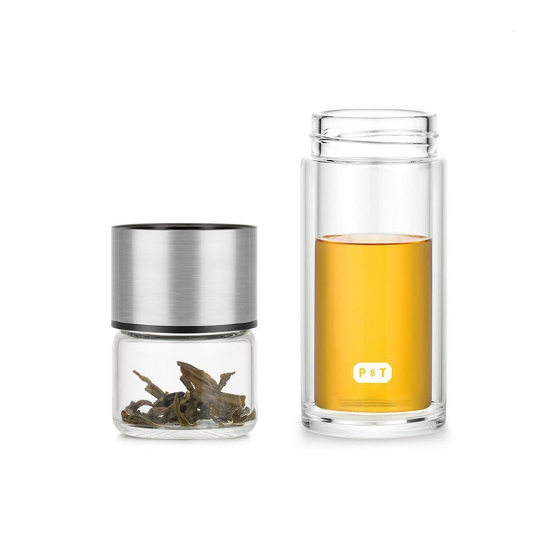 P & T Nomad bottle  Insulated glassbottle for brewing and drinking tea on the go. Holds: 240 ml. Teapot Paper & Tea
