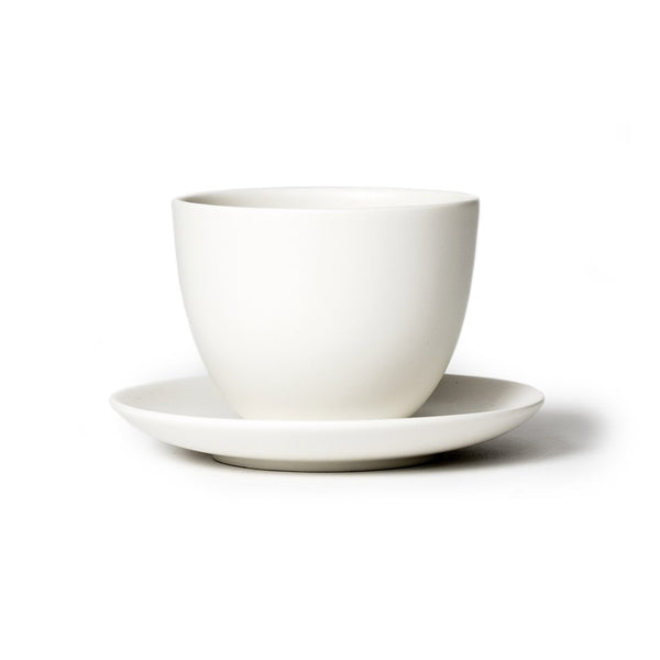 Pebble cup & saucer white  A porcelain cup with matching saucer: Holds 180 ml.  Cup Paper & Tea