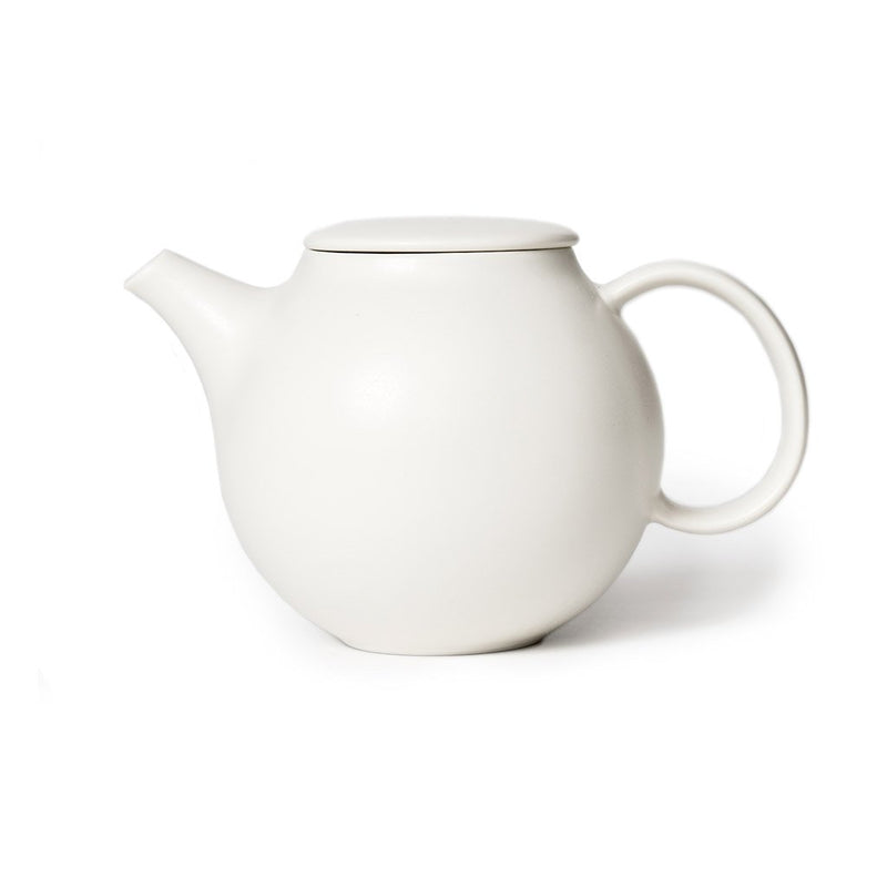 Pebble teapot white