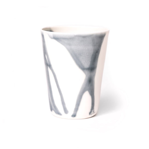 River flow cup  A hand-crafted porcelain cup by Nastia Eliseeva: Holds 300 ml. Cup Paper & Tea