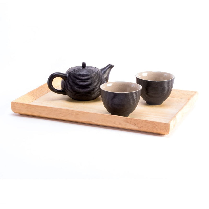 Rubberwood Tray  A serving tray made from rubberwood.  Tray Paper & Tea