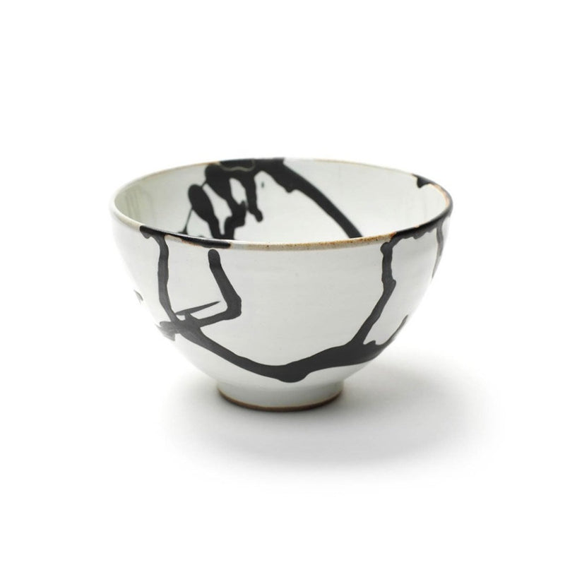 Shirokuro Bowl  A stoneware bowl for tea and matcha with abstract pattern: Holds 180 ml. Bowl Paper & Tea
