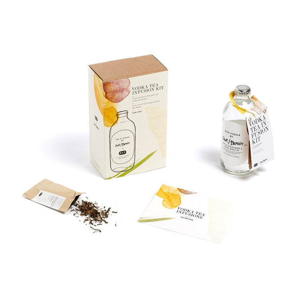Vodka Tea Infusion Kit - Golden Earl  A vodka & tea home infusion kit with Golden Earl black tea blend.  Paper & Tea