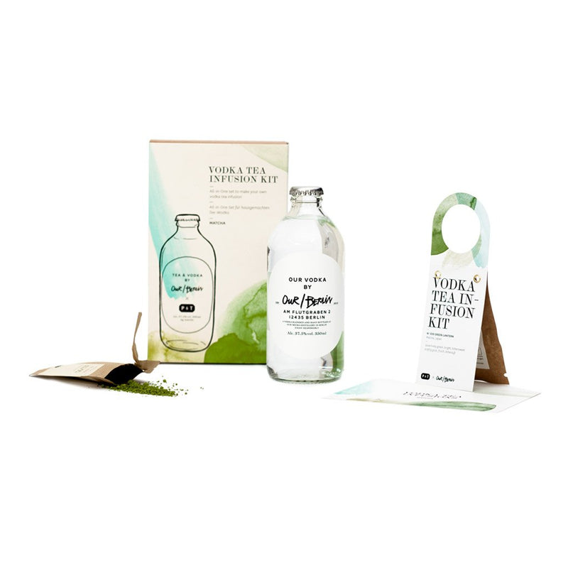 Vodka Tea Infusion Kit - Matcha  A vodka & tea home infusion kit with pure matcha.  Paper & Tea