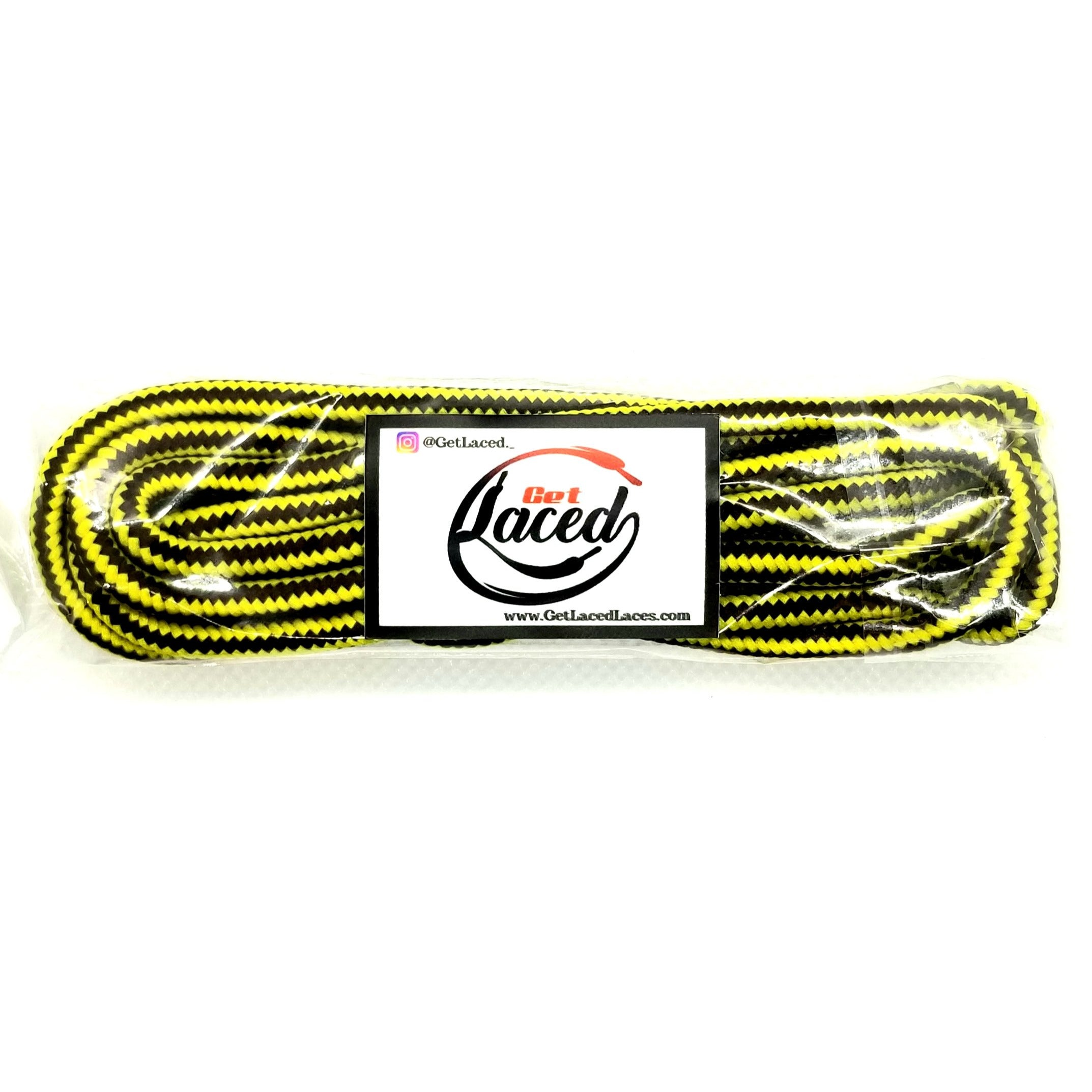 Youth Athletic Rope Laces - Yellow/Brown - Get Laced Shoelaces