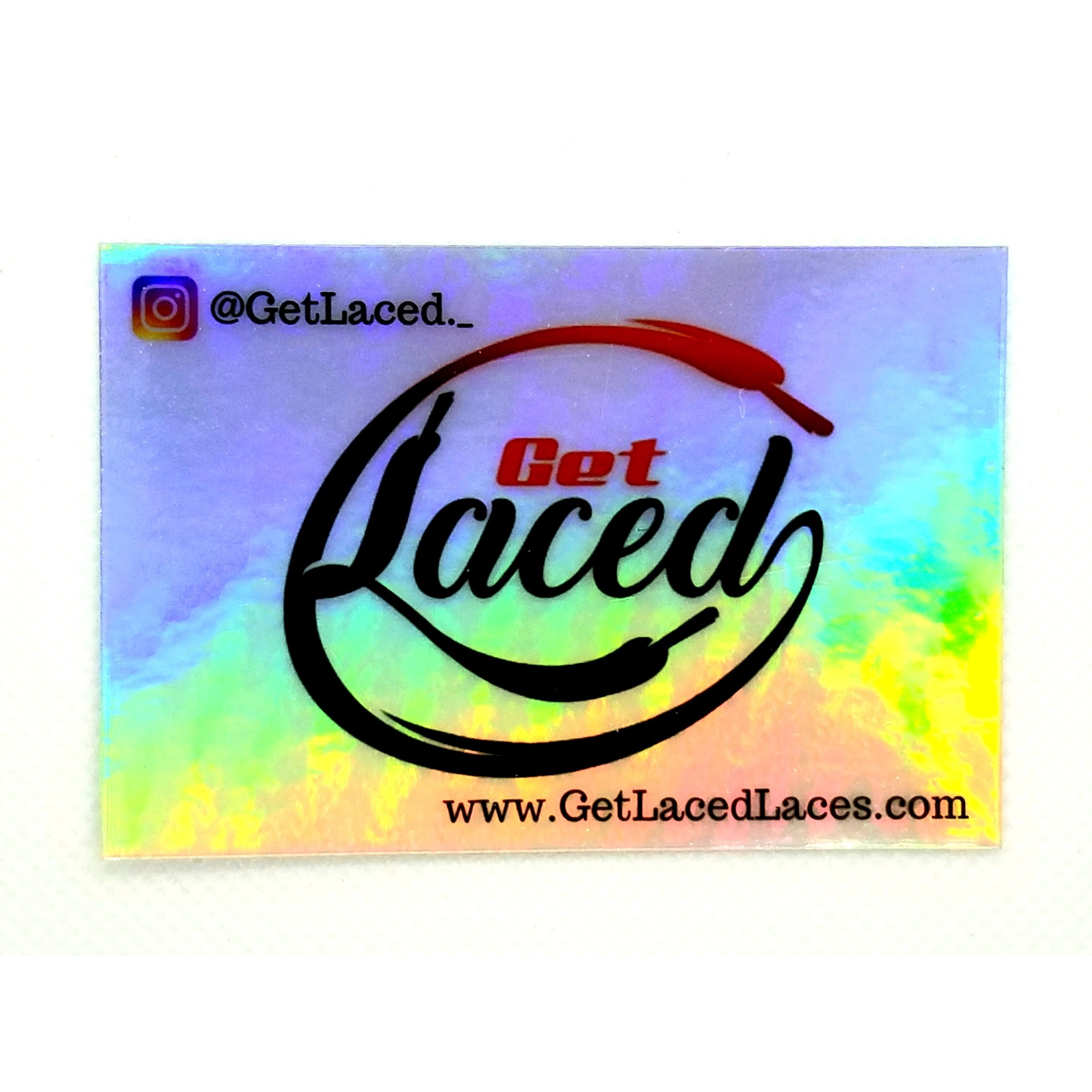 Get Laced Sticker - Multicolor - Get Laced Shoelaces