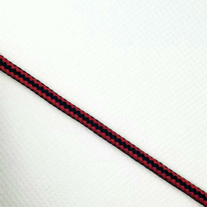 Youth Athletic Rope Laces - Black/Red - Get Laced Shoelaces