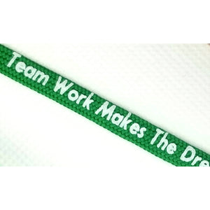 Team Work Makes The Dream Work Laces - Get Laced Shoelaces