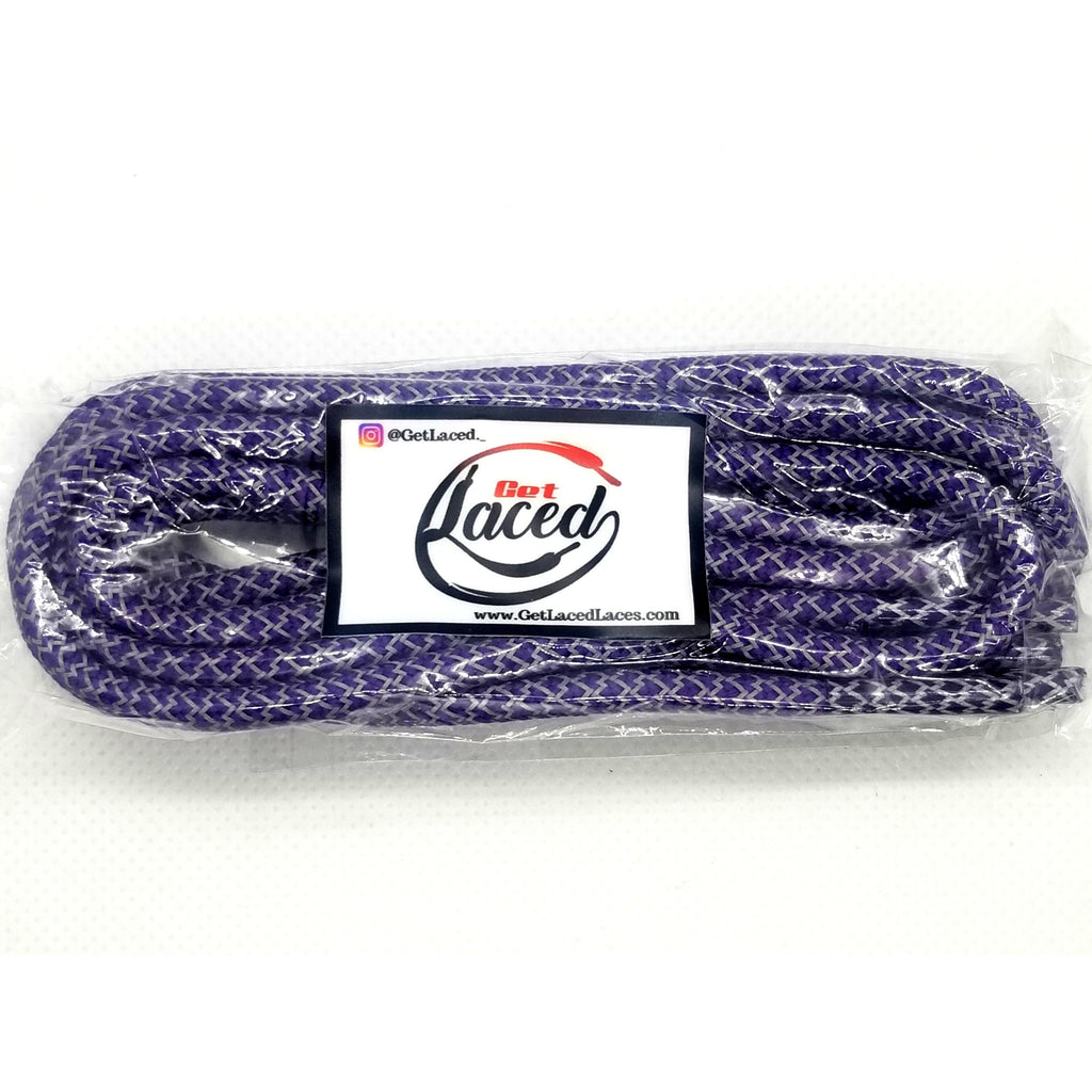 Fresh Reflective Laces - Purple - Get Laced Shoelaces