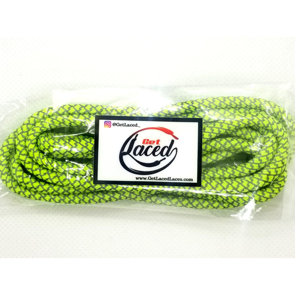 Fresh Reflective Laces - Green - Get Laced Shoelaces