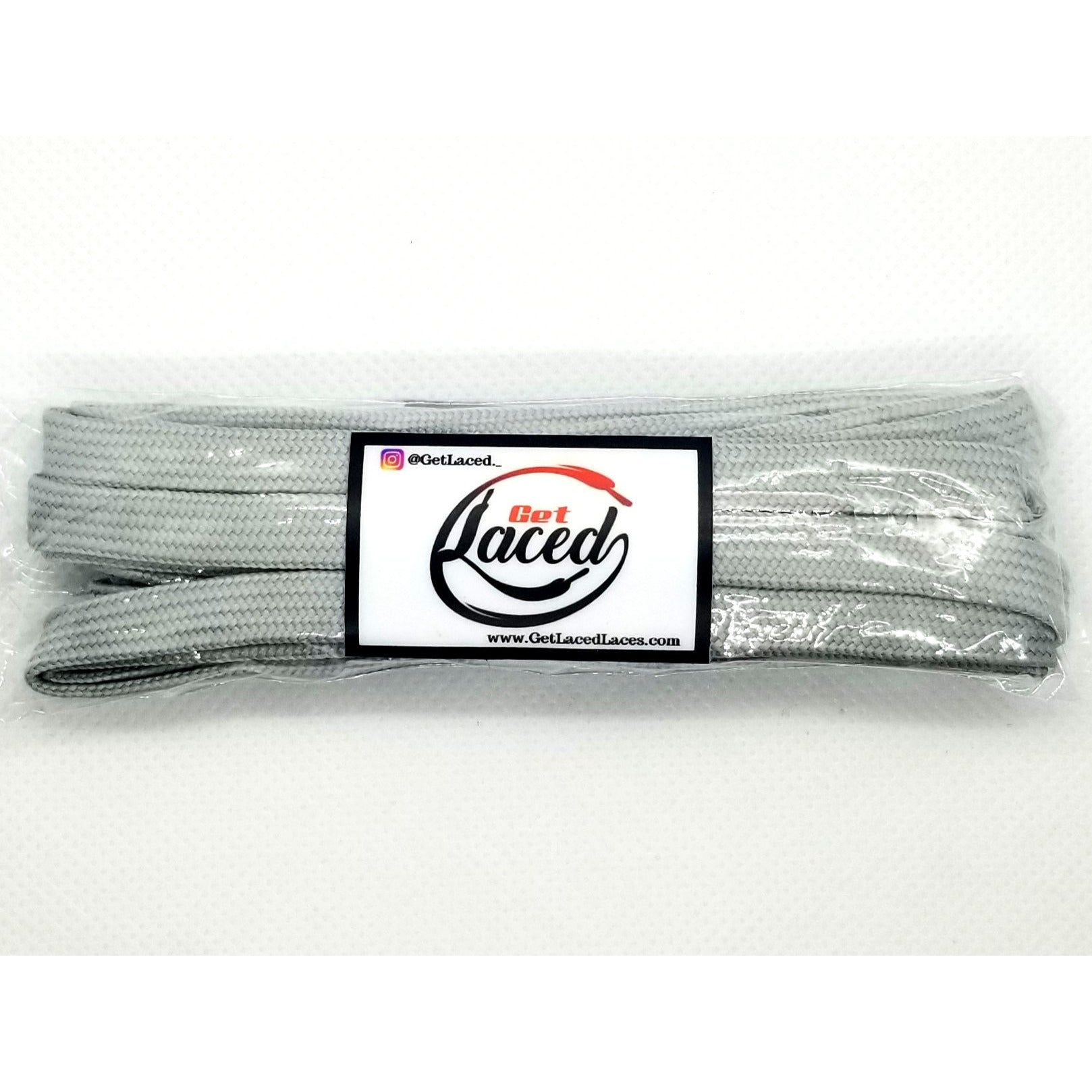 Classic Flat Laces - Cool Grey - Get Laced Shoelaces