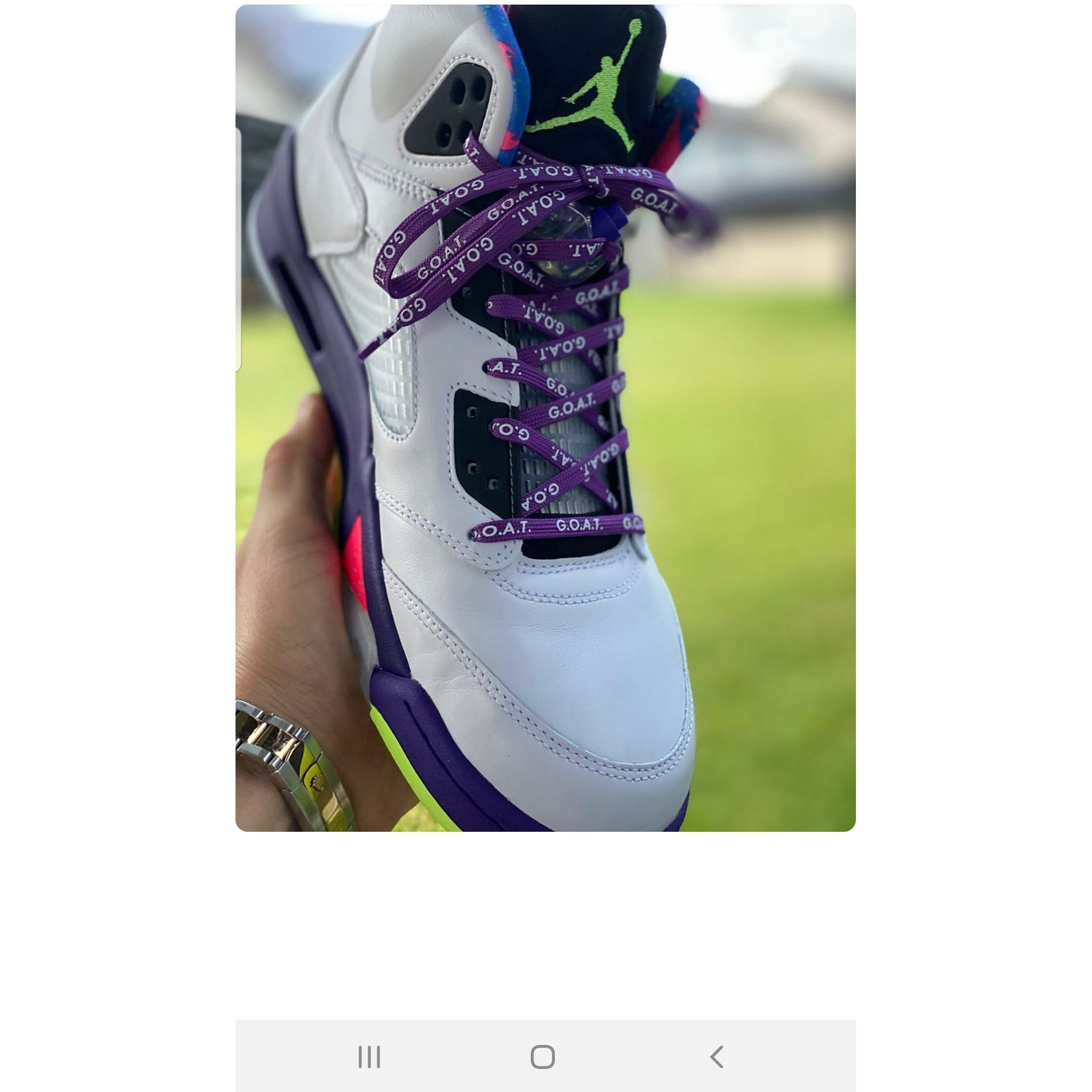 Legendary G.O.A.T. Laces - Purple/White - Get Laced Shoelaces