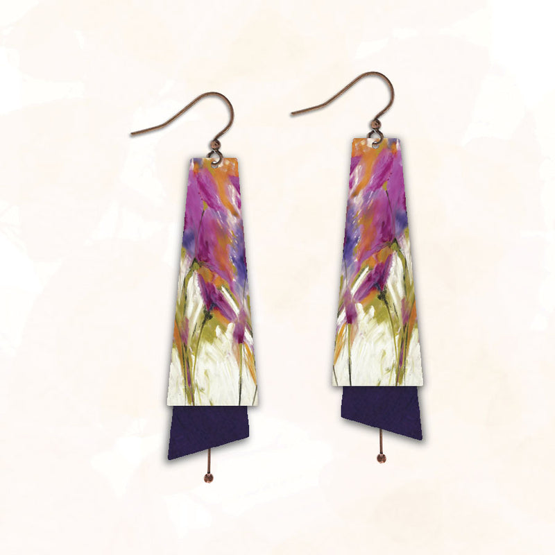 Flared Rectangle 11NTE | Hook | Pink & Purple Floral