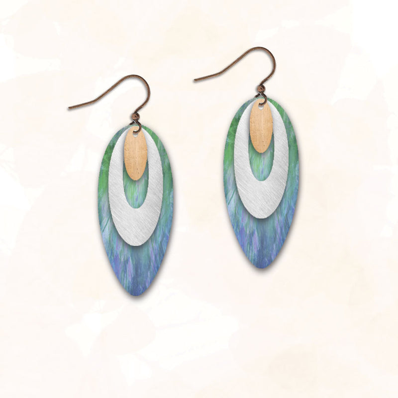 Layered Ovals 13NDCS | Hook | Blues & Greens