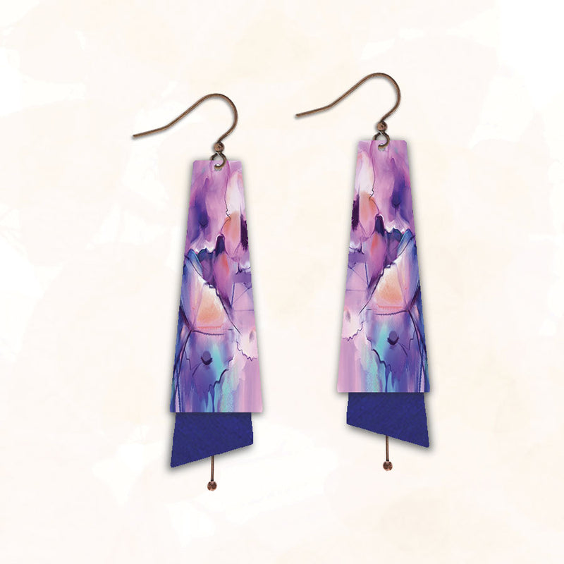 Flared Rectangle 6NTE | Hook | Abstract Purple Floral