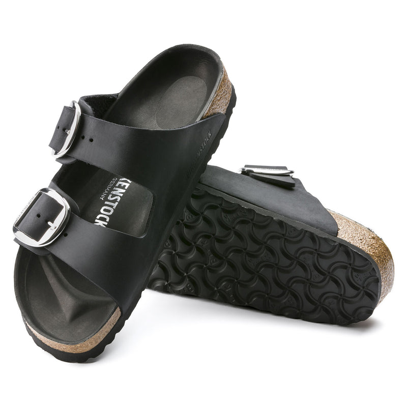 Arizona | Big Buckle | Oiled Leather | Black