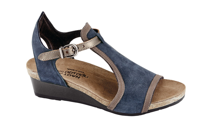 Fiona | Navy Velvet Nubuck/Shiitake Nubuck/Pewter Leather
