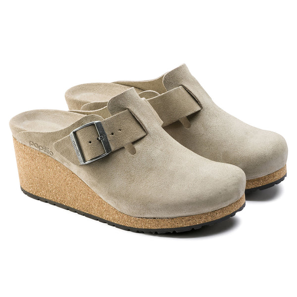 Fanny | Wedge | Suede | Taupe