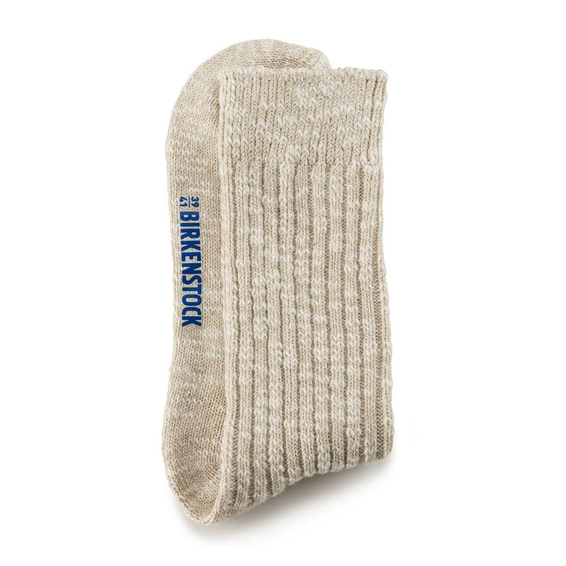 Fashion Slub Sock | Women | Beige/White