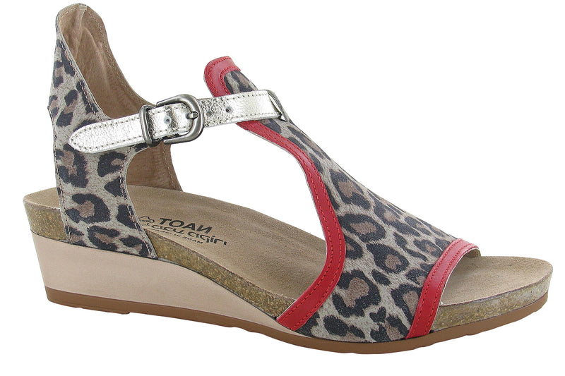Fiona | Cheetah Suede/Kiss Red Leather/Radiant Gold Leather