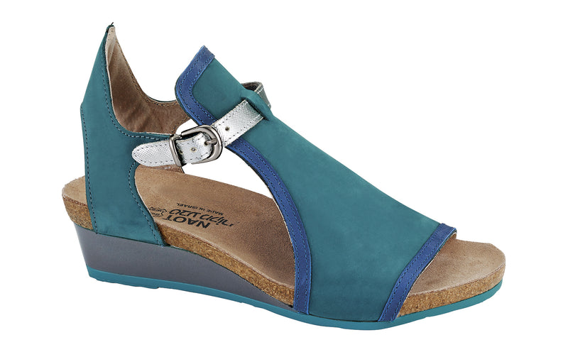 Fiona | Teal Nubuck/Oily Blue Lnubuck/Silver Luster Leather
